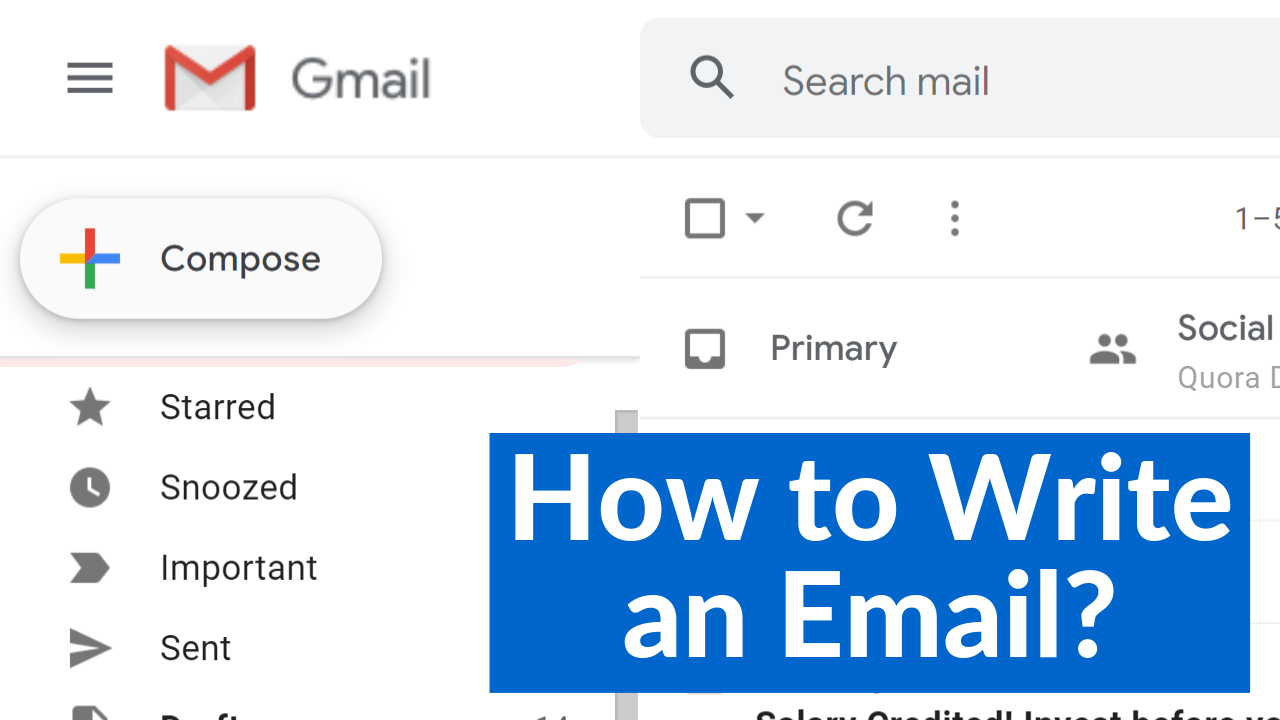 How to Write an Email? Formal email and Informal email